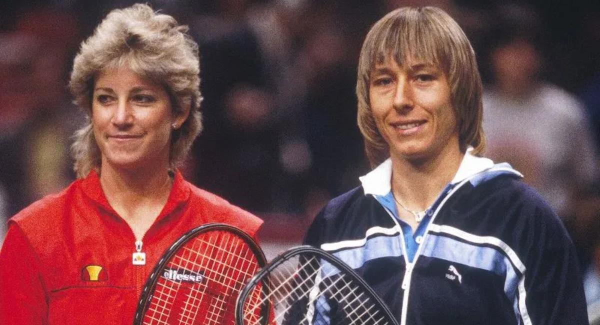 Chris Evert and Martina Navratilova